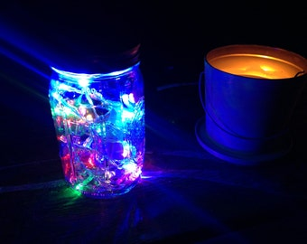 Mason Jar Lantern Fairy Lights LED String Light AA Battery Operated 10 ft in length with 30 LEDs