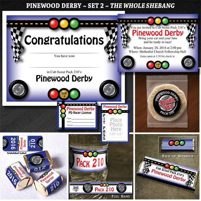 Cub Scout Pinewood Derby Set 2: The Whole Shebang Invites