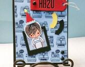 Happy Birthday HB2U Polaroid Camera Kid Card