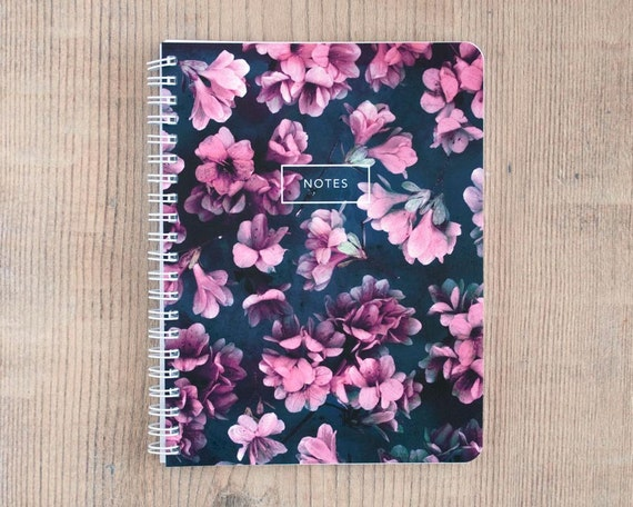 Arcane Azalea Notebook, Journal, Diary, Flower Statement, Travel, Gift, Planner, Writing, Thoughts, Notes, 5.5x7.25 inch