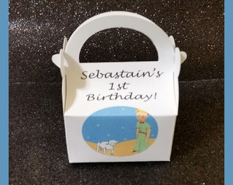 Little Prince party favor boxes,  Little Prince birthday favors