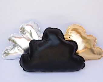 Metallic Pillow Home Decor, Cloud Shaped Soft Cotton Pillows For Baby, Toddler, Kids and Adults, Room Decoration, Decorative Cushion