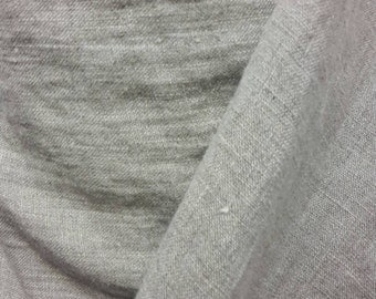 """Softened linen fabric by the meters, organic fabric, pure flax fabric, width 140cm 55"""" softened grey linen, stonewashed linen by the yard"""