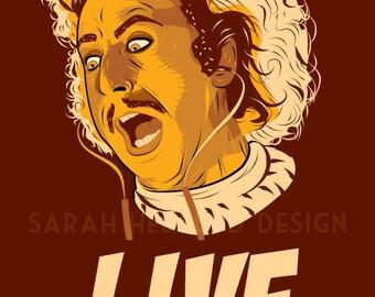 Gene Wilder Young Frankenstein Poster