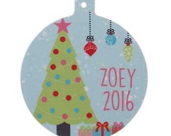 Personalzied Christmas Tree Ornament-Personalized Tree Ornament-Customized Ornament-Colorful Christmas Ornament