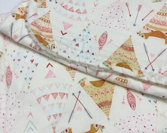 Baby Stroller Blanket - Cream - Stroller Blanket- Tepee
