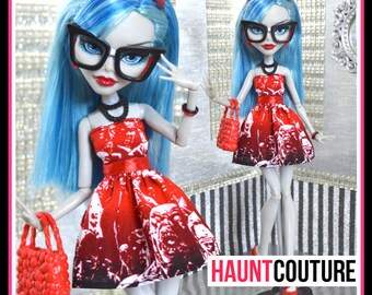 """Monster Doll Haunt Couture: """"Walking Dead"""" skirt high fashion dress clothes"""