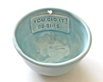 Customized Bowl -Handmade Ceramic Bowl-Personalized Ice cream Bowl- bowl with heart cut out- custom Ceramic Bowl - Personalized Pottery bowl