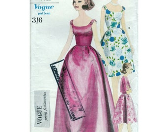 60s Vogue prom or evening dress sewing pattern 5701, Bust 32 inches, bell shaped skirt and jacket