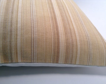 earth toned stripe pillow cover