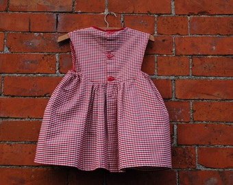 Pinafore Dress in Organic Cotton.