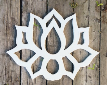 Lotus Flower Wood Wall Art