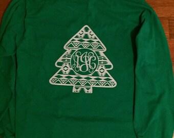 Quilt Design Christmas Tree T-Shirt