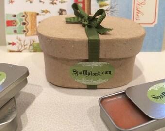 LIP BALM Gift Sets- Organic, All Natural, Designer,Vegan,by SPA Uptown, Kissable, Lush Lips