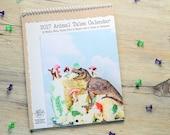 2017 Funny Wall Calendar • 12 Month Calendar •Gift for Animal Lover • Christmas Gift Under 25 • Animal Tales Dark Humor Calendar