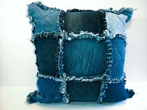 Rag Quilt Throw Pillow Cover Shabby Chic Cushion Cover