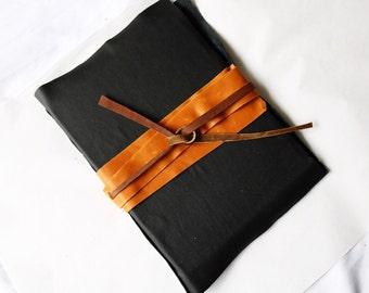 Large Black and Orange Journal