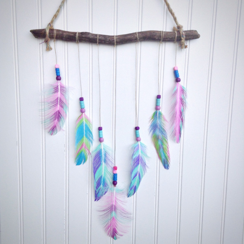 Southwestern decor boho decor feather wall hanging for Decoration hangers