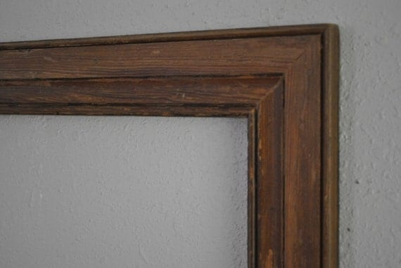 13 x 19 old door trim dark wood frame reclaimed old homestead one of a kind from. Black Bedroom Furniture Sets. Home Design Ideas