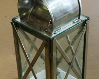 Tin Candle Lantern HA-46R/Tin (wX)
