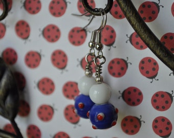Red, White, Blue, and You Earrings