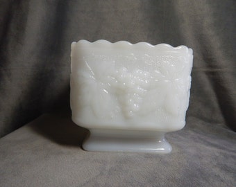 Vintage Milk Glass Pedestal Dish