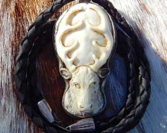 White Deer Spirit  ~ Antler Carving