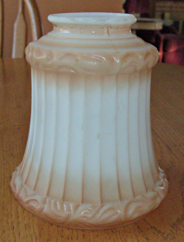 vintage glass lamp shade chandelier replacement. Black Bedroom Furniture Sets. Home Design Ideas