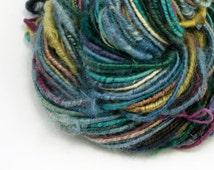 Bulky Yarn, Corespun Yarn, Handspun Yarn, Artisan Yarn, Handspun Art Yarn, Chunky Yarn, Textured Yarn, Art Yarn, Teeswater Yarn, AURORA