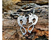 Dragon Earrings, Viking Earrings, Silver Dragons, Silver Earrings, Engraved Dragons, Nordic Jewelry, Viking Jewelry, Dangle Earrings, Norse