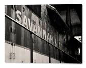 Savannah & Atlanta Diesel Locomotive, Black and White Photography, Savannah - Georgia