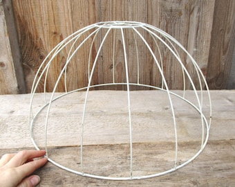 Lamp Shade Wire Frame, Round Metal Hanging Lampshade, Lighting Fixture, Lamp Supply, Salvaged Home Decor, DIY Project