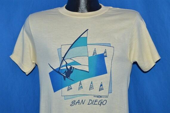 80s san diego windsurfing souvenir t shirt small for Shirt printing san diego