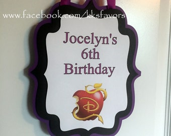 Descendants Party Door Sign