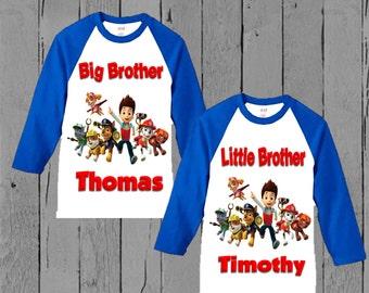 Paw Patrol Brother Shirt - Paw Patrol Matching Sibling Shirt