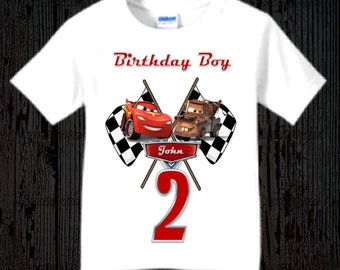 Disney Cars Birthday Shirt - McQueen and Mater Racer