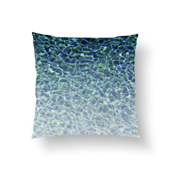 Pool Blue Throw Pillows : Pool Water 3 Throw Pillow Cover Beach Surf Chic by NatureCityCo