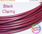 """Clearance Sale 5/8"""" Black Cherry HDPE Hula Hoop Button collapse"""
