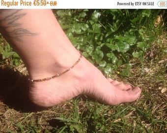 Summer Sales Brown Topaz Beaded anklet, simple anklet, elegant anklet, everyday anklet, boho anklet, beaded anklet, beach anklet, ankle brac