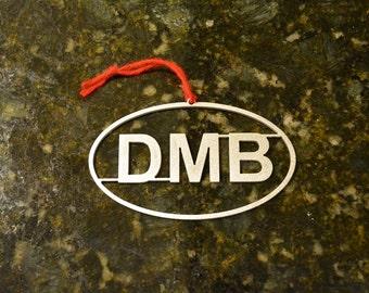 DMB Christmas Ornament aluminum Dave Matthews Band