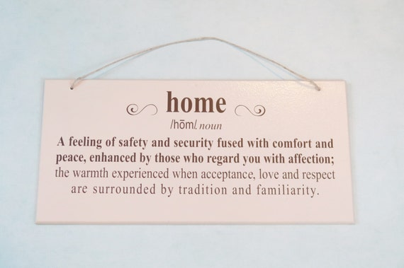 Dictionary Definition Of Home Wood Sign Sentimental Phrase