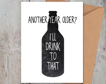 Drink to That Birthday Card