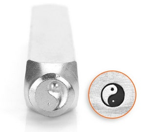 Yin Yang Metal Design Stamp, 6mm SC1518-G-6mm, Yin Yang metal punch