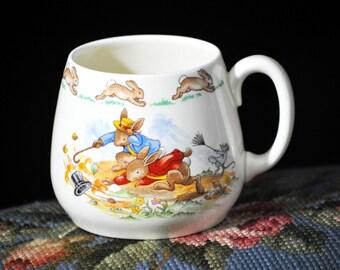 Bunnykins Mug, Royal Doulton, Cup, Baby Mug, Vintage Rabbit Mug, Wonderful Gift Idea #2015A