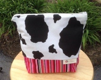 Black, white and pink ditty bag, Lislyn Designs