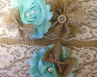 rustic wedding garter