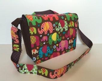 children's bag (M) 'Flower Power Elephants'