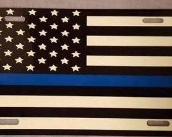 Thin Blue Line License Plates