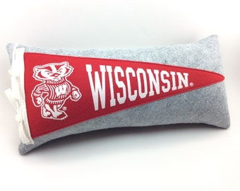 University of Wisconsin Badgers Pennant Pillow