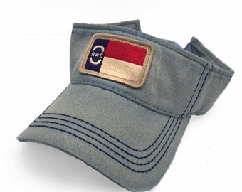 North Carolina Flag Patch Visor, Americana Blue